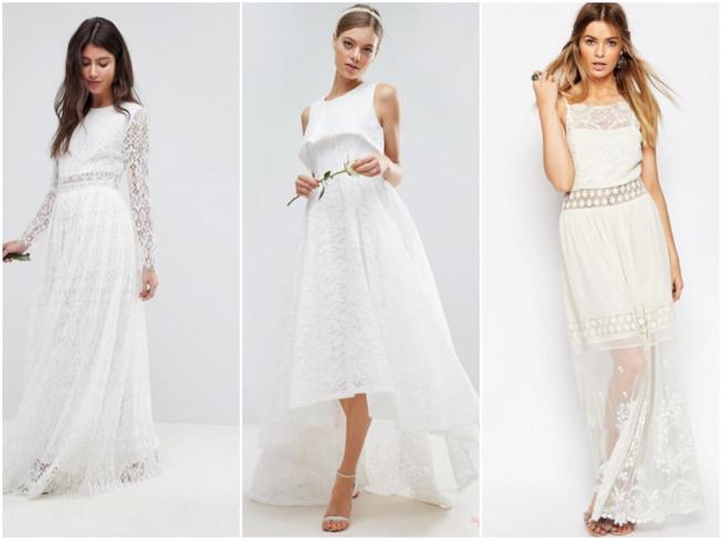 Tre abiti bianchi in mood sposa