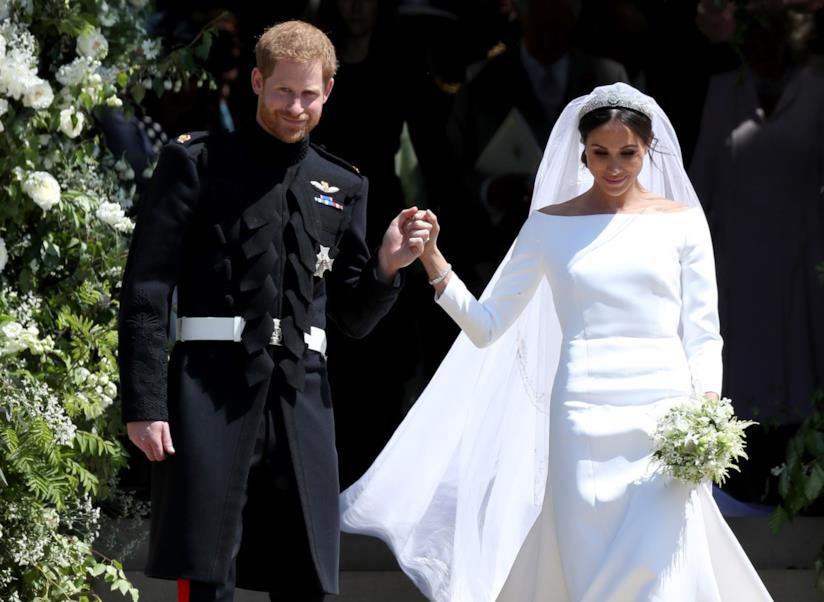 Harry e Meghan Markle al matrimonio