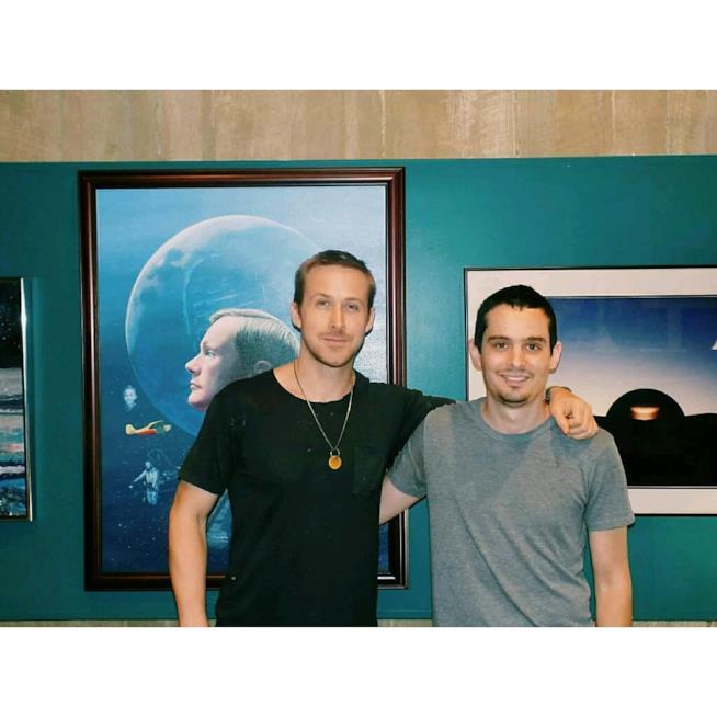 Damien Chazelle e Ryan Gosling sul set di First Man