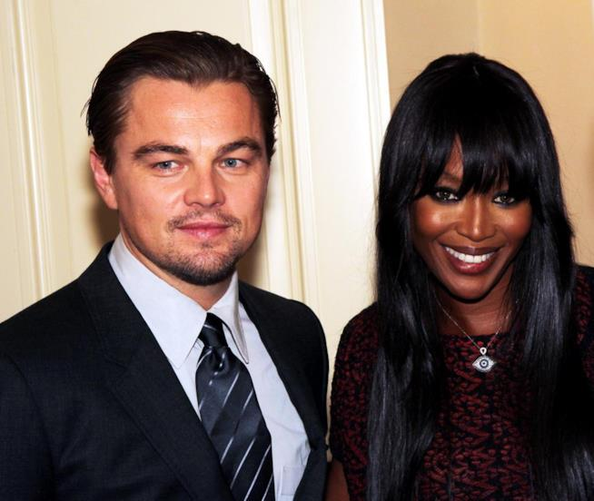 Leonardo DiCaprio con Naomi Campbell