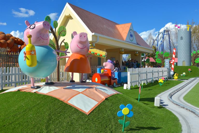 Peppa Pig Land a Gardaland, trenino di Nonno Pig