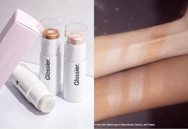 Haloscope Dew Effect Highlighter l'illuminante in stick Glossier in 3 colori