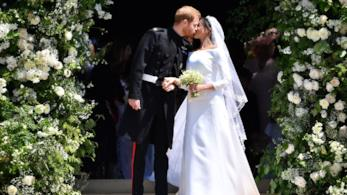 Harry e Meghan durante il Royal Wedding