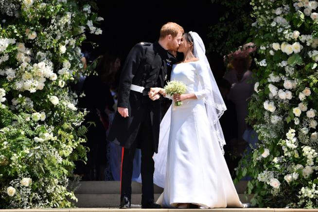 Harry e Meghan durante il Royal Wedding