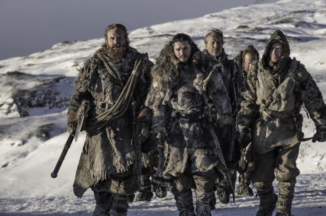 Jorah, Tormund, Jon Snow, Gendry e Beric oltre la Barriera