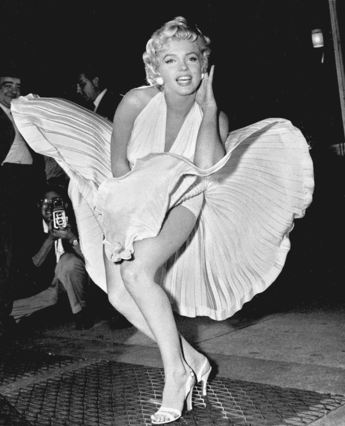 Marilyn Monroe con l'epico vestito bianco