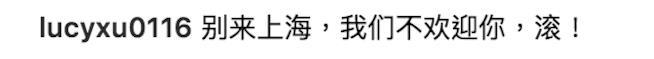 Un commento in cinese su Instagram