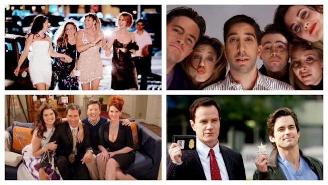 Cast di Sex and the City, Friends, Will & Grace e White Collar