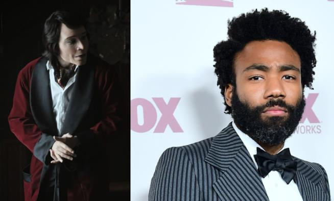 Teddy Perkins e l'attore Donald Glover