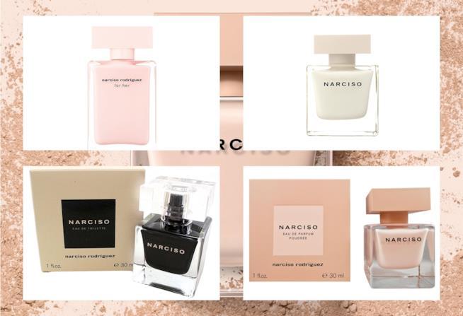 Le creazioni della collezione Narciso del brand Narciso Rodriguez