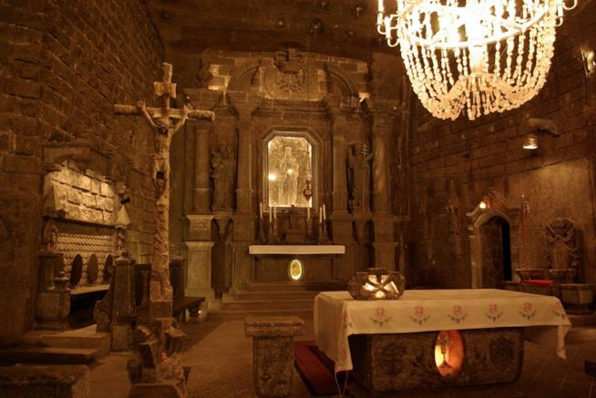 La cappella in sale delle miniere di Wieliczka