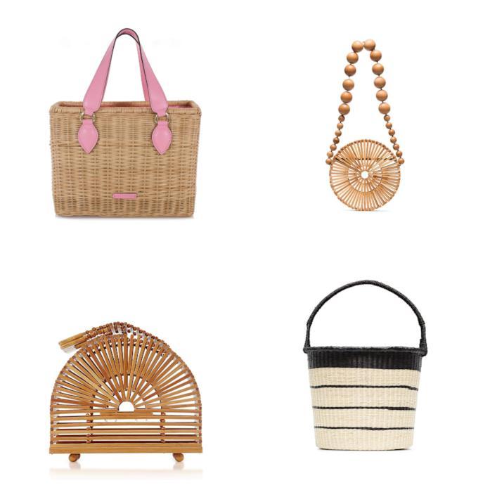 A cestino e con i materiali naturali, le borse di moda per l'autunno 2018