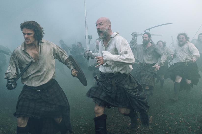 Una scena di battaglia in Outlander