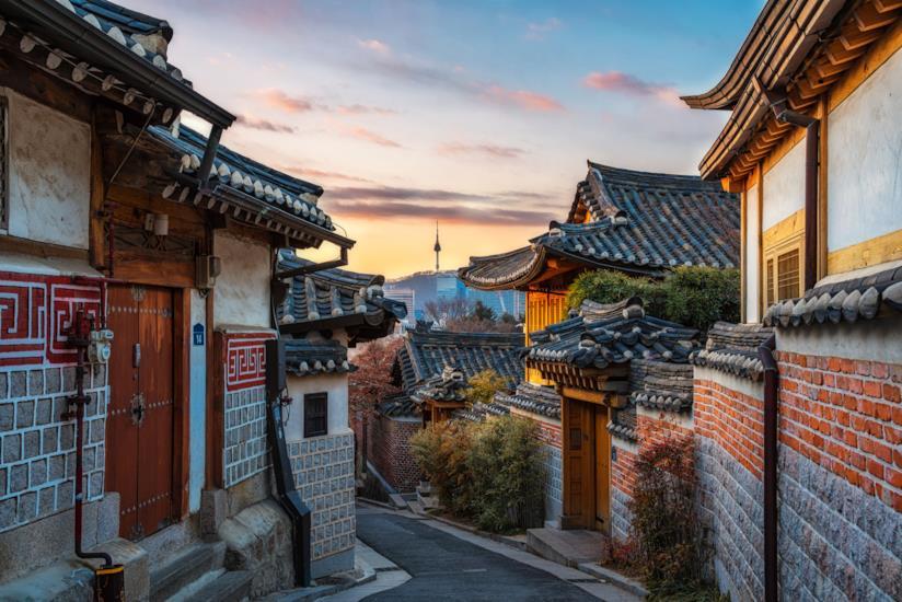 Tipico villaggio antico di Seul