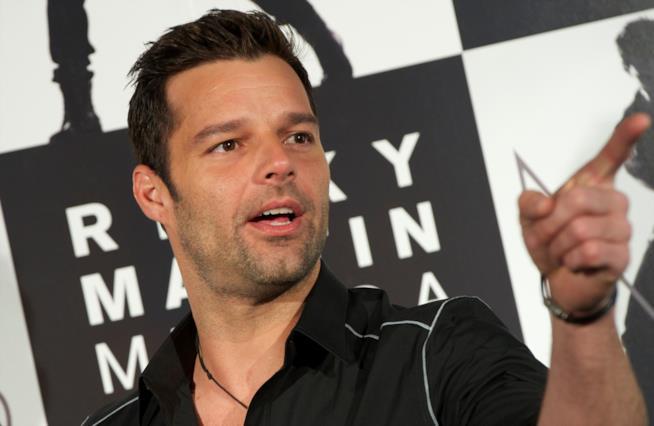 Ricky Martin in primo piano