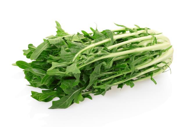 Verdura con foglie verdi