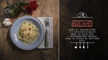 Spaghettoni aglio, olio e peperoncino