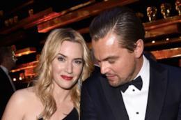 Un primo piano di Leonardo DiCaprio e Kate Winslet