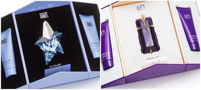 Gift set Natale 2017 edizione lusso profumo crema corpo e gel doccia Angel e Alien Thierry Mugler