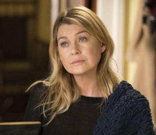 Un primo piano di Meredith Grey