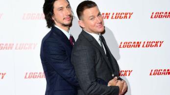 Channing Tatum e Adam Driver sul red carpet di Logan Lucky su Instagram