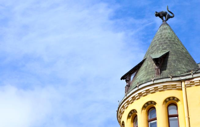 L'edificio Art Nouveau chiamato la Casa del Gatto