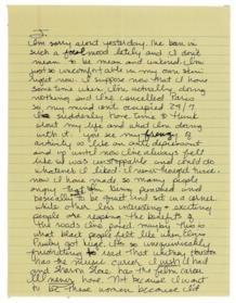 Lettera di Madonna a John Enos
