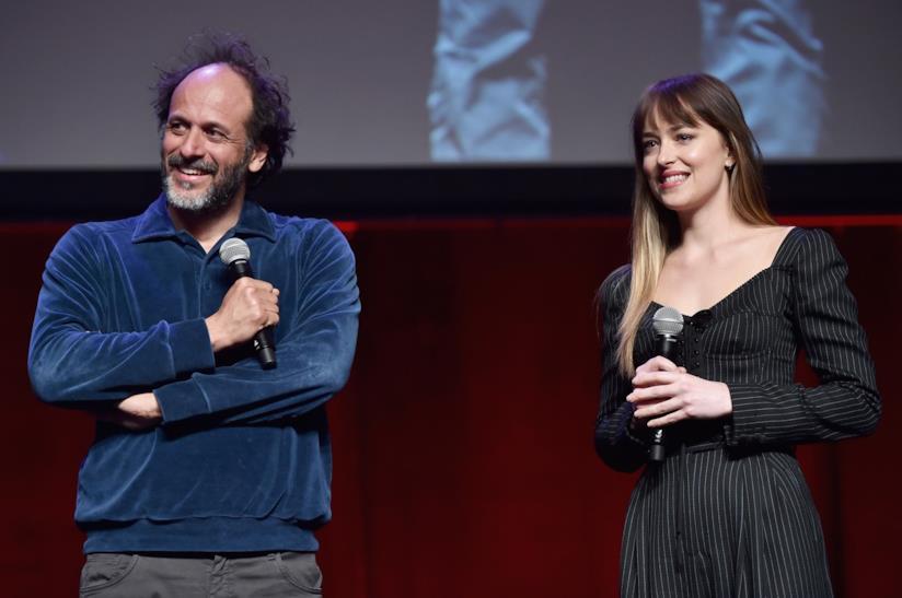 Dakota Johnson e Luca Gaudagnino al CinemaCon per il remake di Suspiria