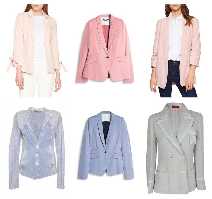Nuance pastello, i blazer di moda per l'autunno 2018