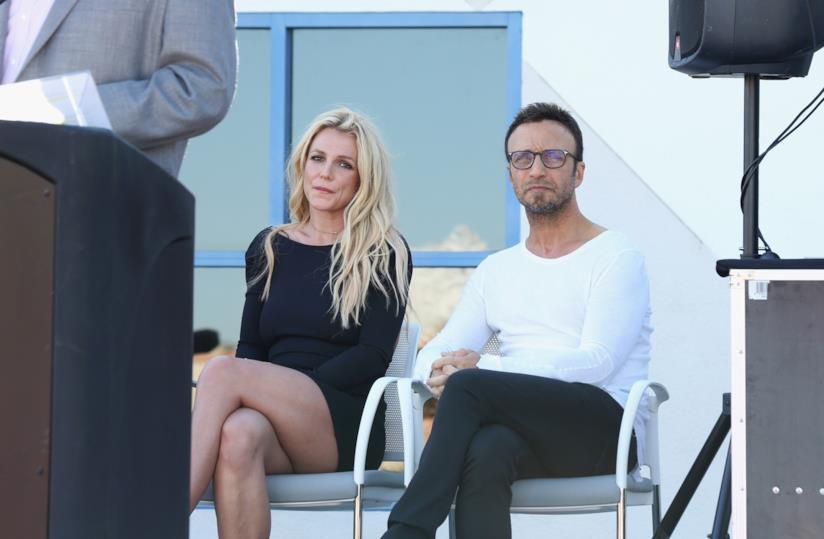 Britney Spears e Larry Rudolph a un evento