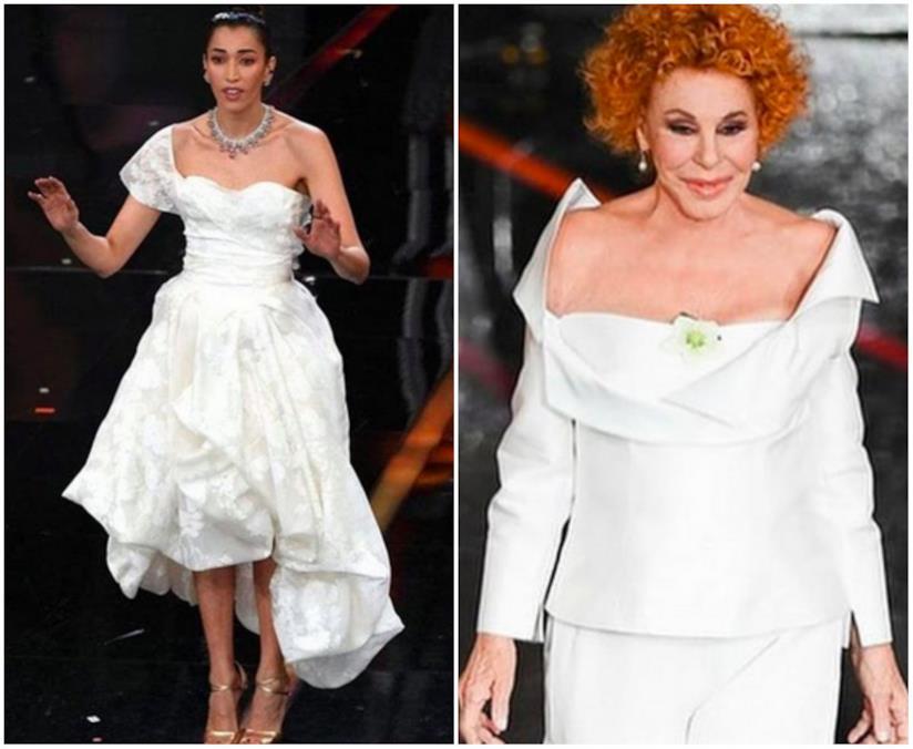 Collage tra Nina Zilli e Ornella Vanoni a Sanremo