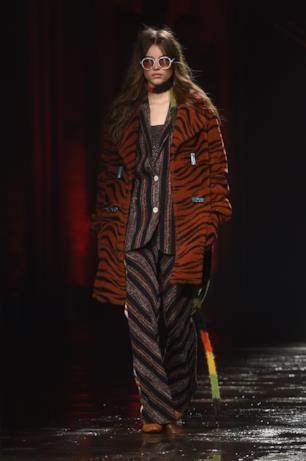 Il cappotto in stile animalier di Missoni per l'autunno inverno 2018-19