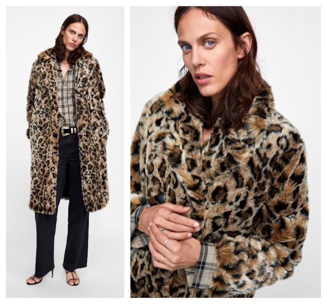 Con la stampa animalier, la faux fur di moda per l'autunno 2018