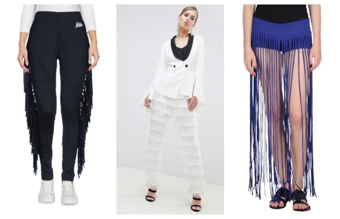 Con le frange, i pantaloni di tendenza estate 2018