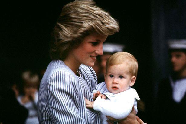 Una vecchia foto di Lady Diana con il Principe Harry