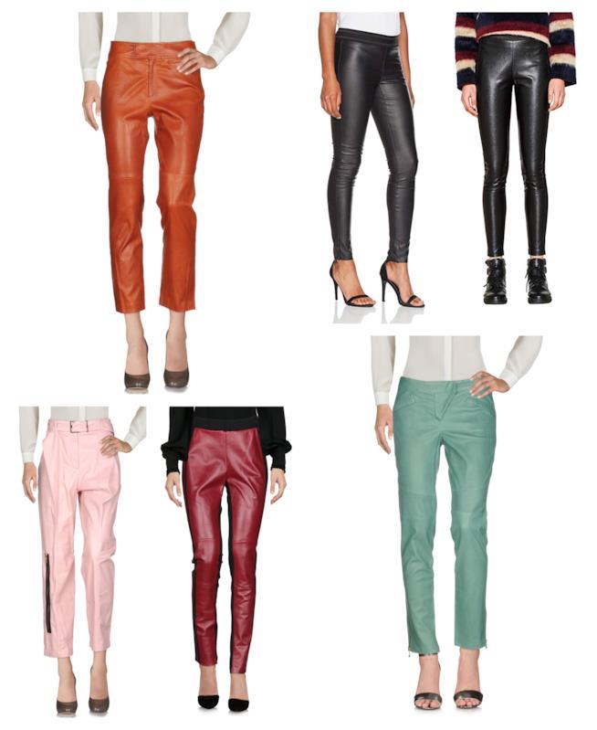 In pelle e similpelle i pantaloni di tendenza autunno inverno 2018-19