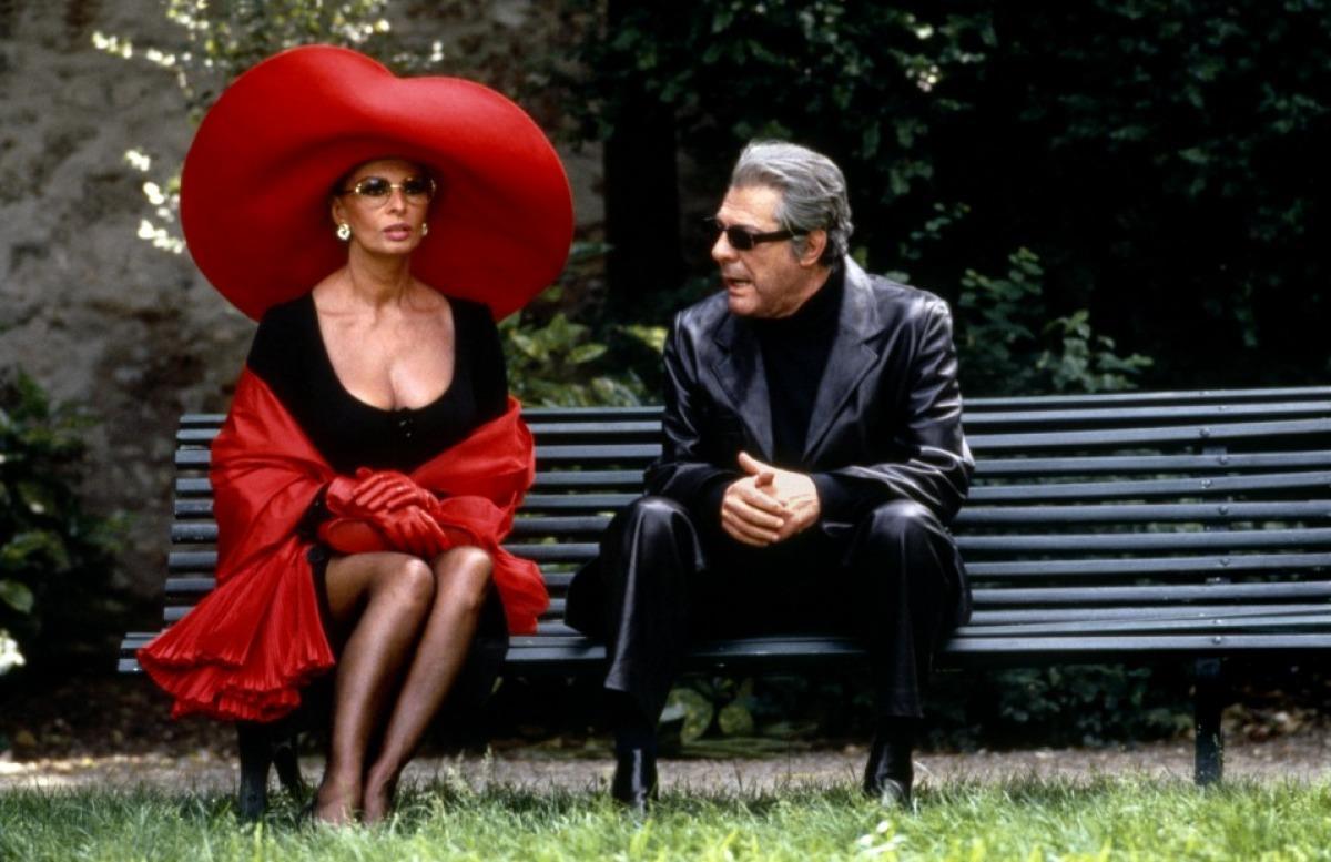 Sophia Loren e Marcello Mastroianni Prêt-à-Porter di Robert Altman (1994)