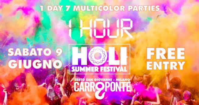 La locandina dell'Holi Summer Festival