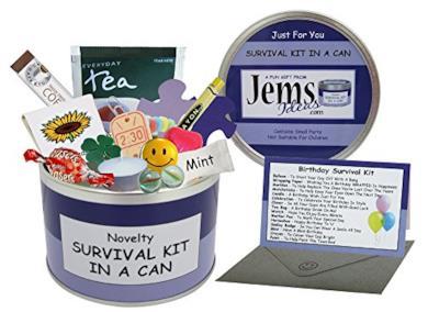 Kit di sopravvivenza in lattina per il compleanno