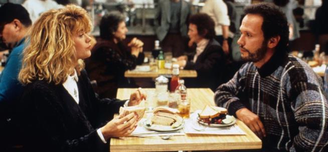 Harry e Sally nella celebre scena della tavola calda