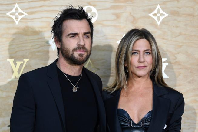 Jennifer Aniston con l'ex marito Justin Theroux