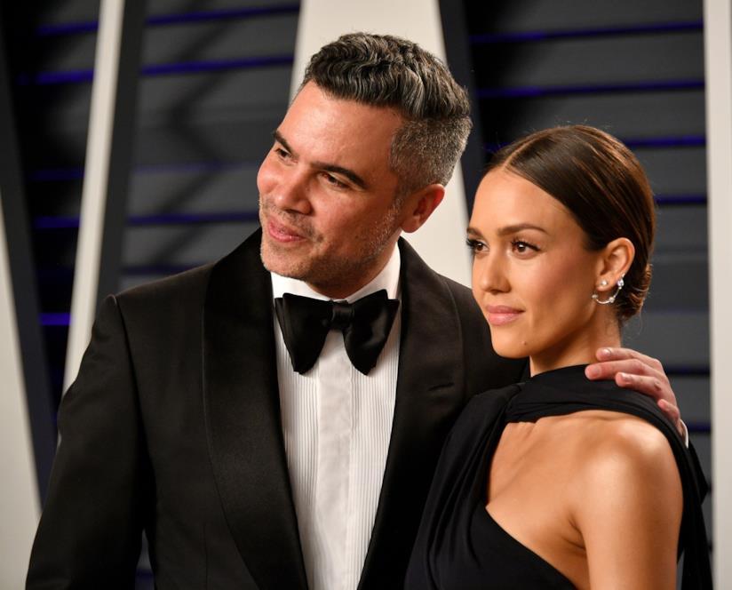 Jessica Alba con il marito Cash Warren