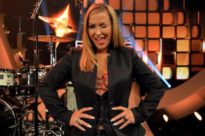 Anastacia durante lo show Rising Star