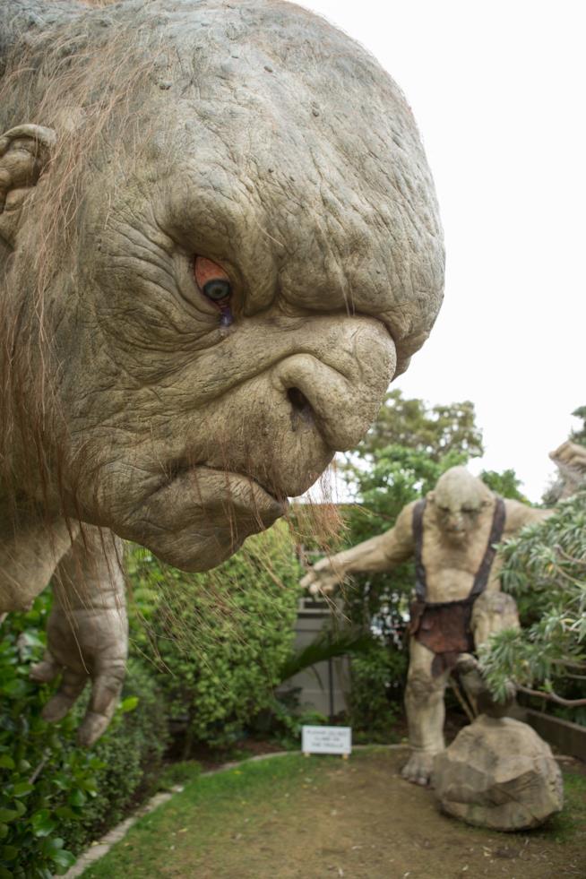 Statue di Troll del Signore degli Anelli agli Weta Studios di Wellington in Nuova Zelanda