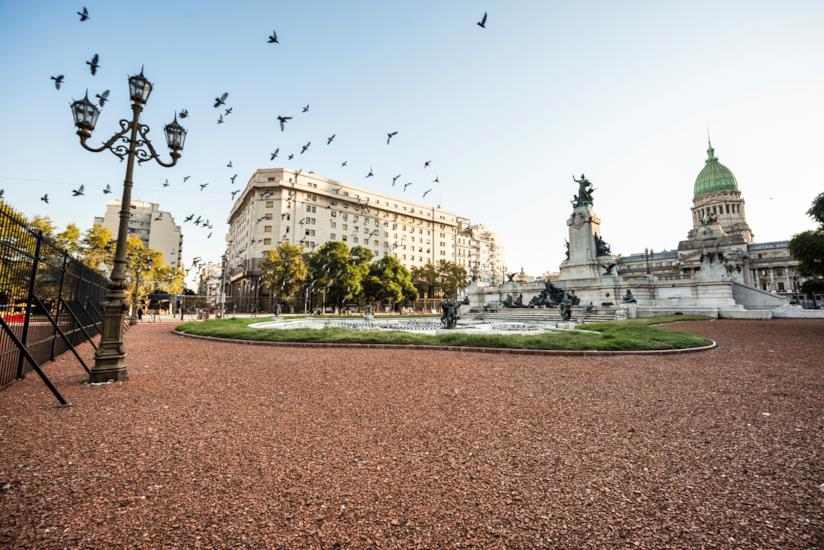 Piazza del congresso a Buenos Aires