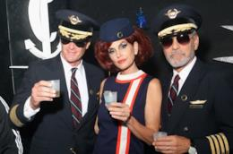 Cindy Crawford con Rande Gerber e George Clooney