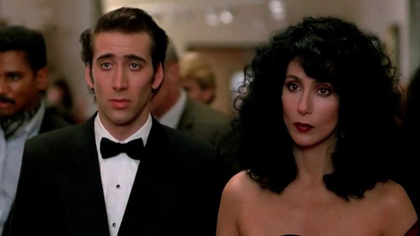 Cher con Nicolas Cage in Stregata Dalla Luna
