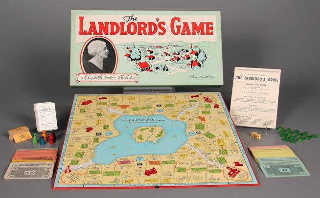 Una vecchia confezione di Landlord's Game di Elizabeth Magie