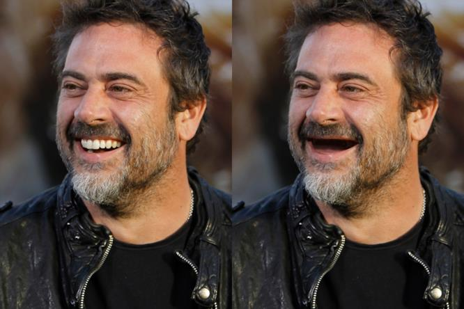 The Walking Dead: Jeffrey Dean Morgan, uno dei protagonisti, senza denti