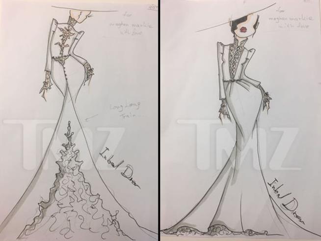 I bozzetti degli abiti da sposa Inbal Dror pensati per Meghan Markle
